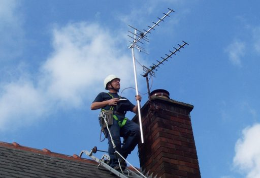 aerial on chimney stack